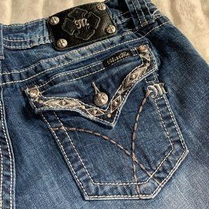 Miss Me jean shorts dark wash embellished
